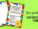 Lego Birthday Party Invitation Free Template Free Printable Lego Birthday Party Invitation Template