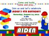 Lego Birthday Party Invitation Free Template Lego themed Birthday Party Invitations Dolanpedia