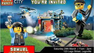 Lego City Birthday Invitation Template Lego City Birthday Party Invitation Invite Studioinvite
