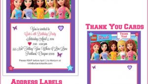 Lego Friends Party Invitations Lego Birthday Quotes Quotesgram