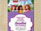 Lego Friends Party Invitations Lego Friends Birthday Invitation Lego Birthday by