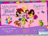 Lego Friends Party Invitations Lego Friends Birthday Invitation Printable File