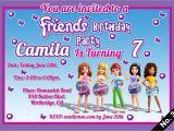 Lego Friends Party Invitations Lego Friends Birthday Invitations Digital Jpeg File Only