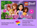 Lego Friends Party Invitations Lego Friends Girl Birthday Party Invitation with Free by