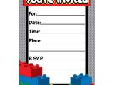 Lego Party Invitation Template Free Free Lego Party Invitations Download Amazing Braesd Com
