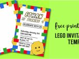 Lego Party Invitation Template Free Free Printable Lego Birthday Party Invitation Template