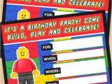 Lego Party Invitation Template Free Free Printable Lego Building Blocks Birthday Invitation