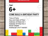 Lego Party Invitation Template Free Lego Party Invitations Lego Invitations Birthday Party
