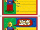 Lego Party Invitation Template Free Printable Lego Birthday Invitations Scribd Aaron 39 S