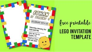 Lego Party Invitation Template Free Printable Lego Birthday Party Invitation Template