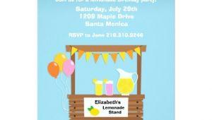 Lemonade Stand Birthday Party Invitations Lemonade Stand Birthday Party Invitation