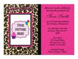 Leopard Graduation Invitations Graduation Invitation Pink Leopard Cheetah 5 Quot X 7