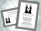 Lesbian Wedding Invitation Wording Lesbian Wedding Invitation Commitment Ceremony Girl
