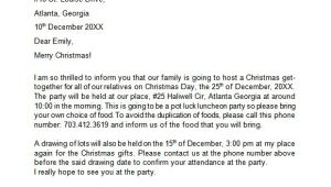 Letter Of Invitation for A Christmas Party 20 Sample Christmas Letters