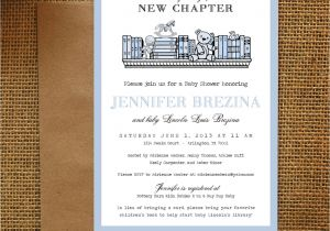 Library themed Baby Shower Invitations Library Book theme Baby Shower Invitation Diy Printable