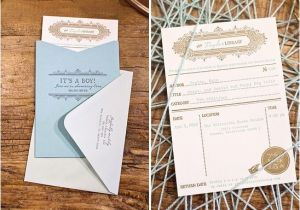 Library themed Baby Shower Invitations Library Card Inspired Invitations by the Aerialist Press