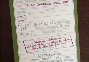 Library themed Baby Shower Invitations Library themed Shower Invitation