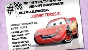 Lightning Mcqueen Birthday Party Invitations Lightning Mcqueen Birthday Invitation