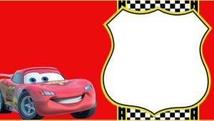 Lightning Mcqueen Party Invitation Template Cars Invitation Templates Free and Printable