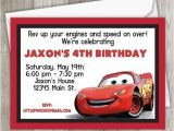 Lightning Mcqueen Party Invites Cars Birthday Invitation Lightning Mcqueen Birthday
