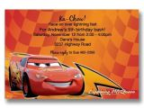 Lightning Mcqueen Party Invites Cars Lightning Mcqueen Birthday Invitations Flickr