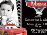 Lightning Mcqueen Party Invites Disney Cars Lightning Mcqueen Birthday Party Invitation