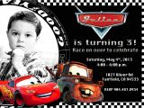 Lightning Mcqueen Party Invites Disney Cars Lightning Mcqueen Mater Birthday Party Invitation