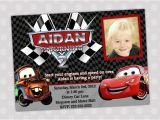 Lightning Mcqueen Party Invites Items Similar to Disney Cars Lightning Mcqueen and Mater