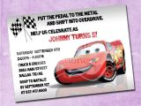 Lightning Mcqueen Party Invites Lightning Mcqueen Birthday Invitation