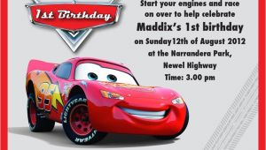 Lightning Mcqueen Party Invites Lightning Mcqueen Party Invitation Templates