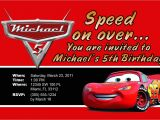 Lightning Mcqueen Party Invites Lightning Mcqueen Personalized Invitations