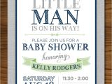 Lil Man Baby Shower Invitations Little Man Baby Shower Invitation with Mustache Vintage