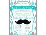 Lil Man Baby Shower Invitations Little Man Mustache Baby Shower Invitations