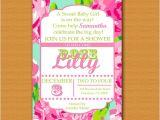 Lilly Pulitzer Birthday Invitations Lilly Pulitzer Inspired Invitation Baby Shower Baby
