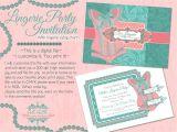 Lingerie Party Invites Lingerie Shower Invitation Template Bella Luella More