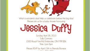 Lion King Baby Shower Invitation Templates Lion King Baby Shower Invitations Template