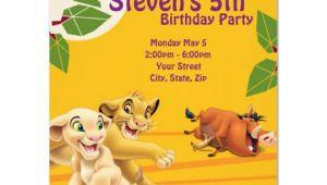 Lion King Birthday Invitation Template Free Lion King Birthday Invitation Zazzle Com