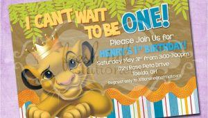 Lion King Birthday Party Invitations Simba Lion King Birthday Invitation