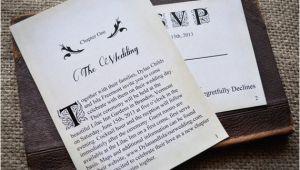 Literary themed Wedding Invitations Novel Idea Literary Wedding Invitation Set Print Yourself