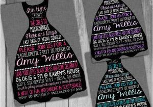 Little Black Dress Bachelorette Party Invites Bachelorette Invitation Bachelorette Party Invitation