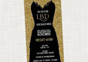 Little Black Dress Bachelorette Party Invites Bachelorette Party Invitation Little Black Dress