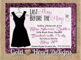 Little Black Dress Bachelorette Party Invites Little Black Dress Bachelorette Party Invitation
