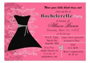 Little Black Dress Bachelorette Party Invites Little Black Dress Bachelorette Party Invite Zazzle