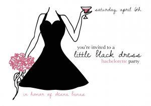 Little Black Dress Bachelorette Party Invites Little Black Dress Bachelorette Party Oasis Amor Fashion