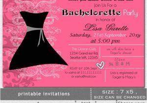 Little Black Dress Bachelorette Party Invites Printable Little Black Dress Bachelorette Party Invitation