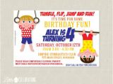 Little Gym Party Invitations Printable Gymnastics Birthday Party by Littlecelebrations