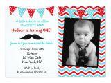 Little Man Birthday Invitation Template Little Man Mustache Birthday Party Invitations Zazzle Com