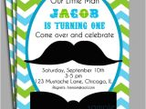 Little Man Birthday Invitation Template Little Man Mustache Invitation Printable or Printed with Free