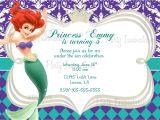 Little Mermaid Birthday Invitation Template Download Free Template Little Mermaid Printable Birthday