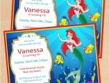 Little Mermaid Birthday Invitations Free Printables Free Printable Disney Little Mermaid Birthday Invitation